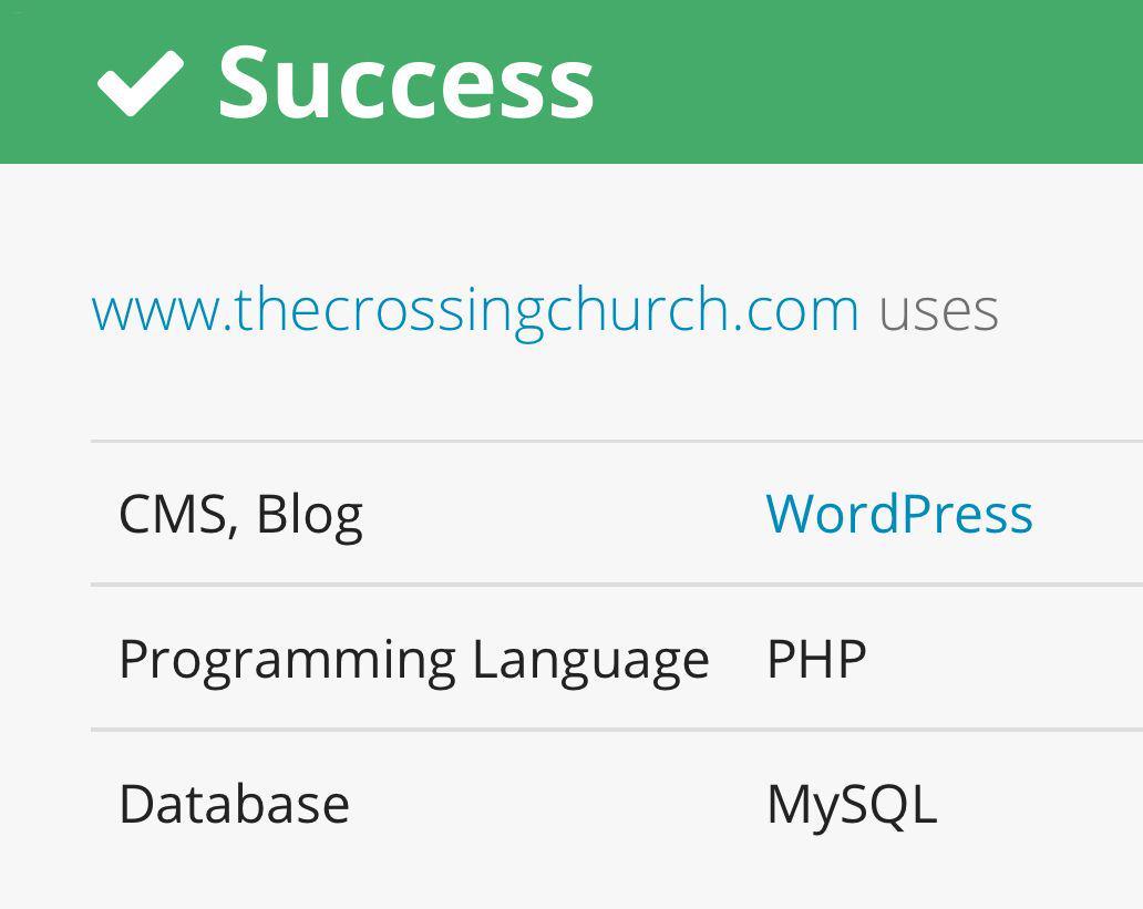 The Crossing on WordPress
