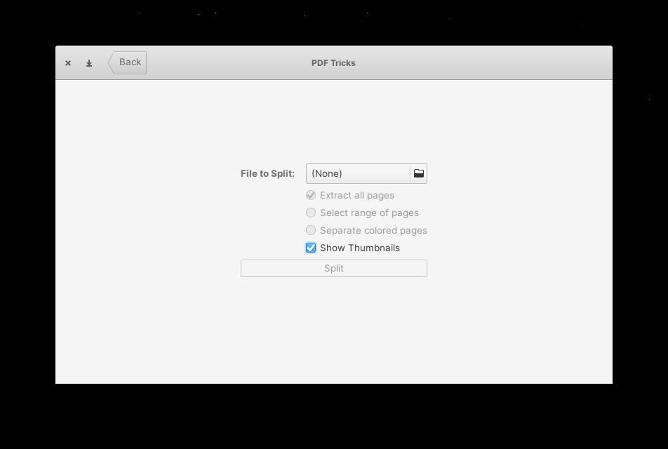 Splitting a PDF file using PDF Tricks