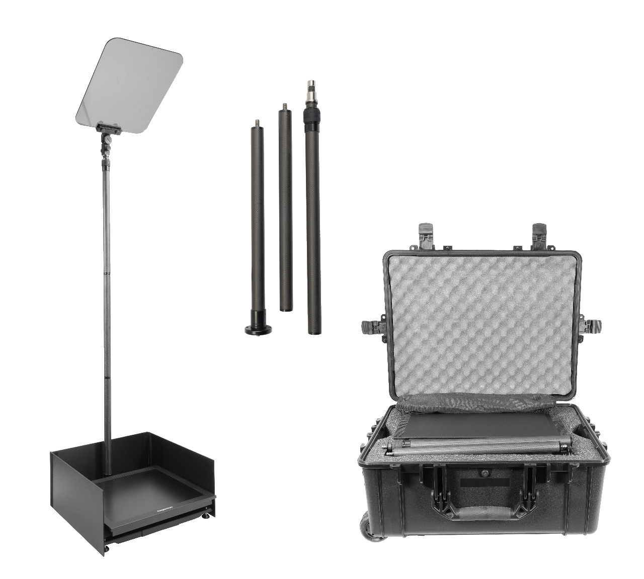 Packaged picture of a teleprompter