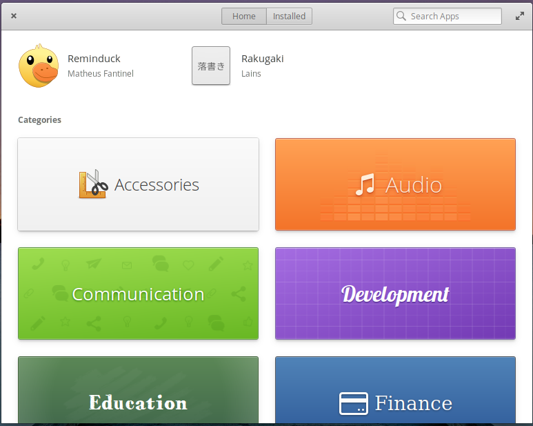The front page of the Elementary OS AppCenter