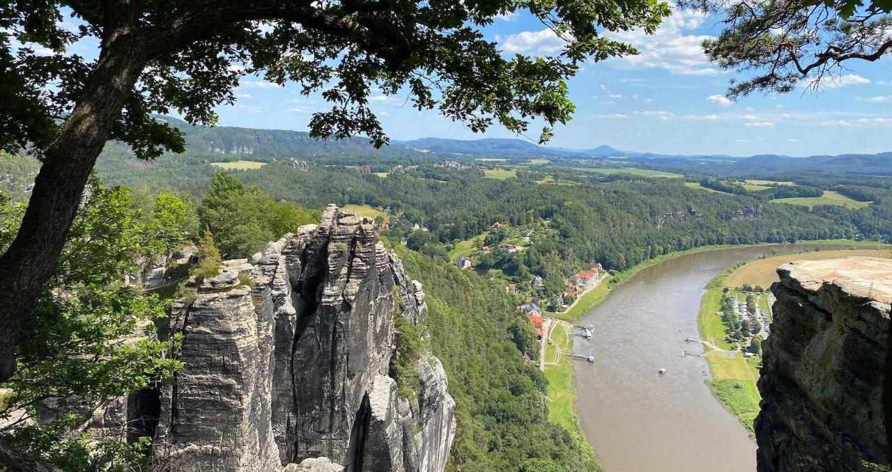 Saxon Switzerland, home of hiking, rock climbing, boat riding and spa