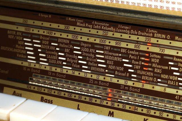 A vintage shortwave radio