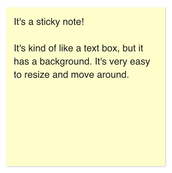 Screenshot of a sticky note