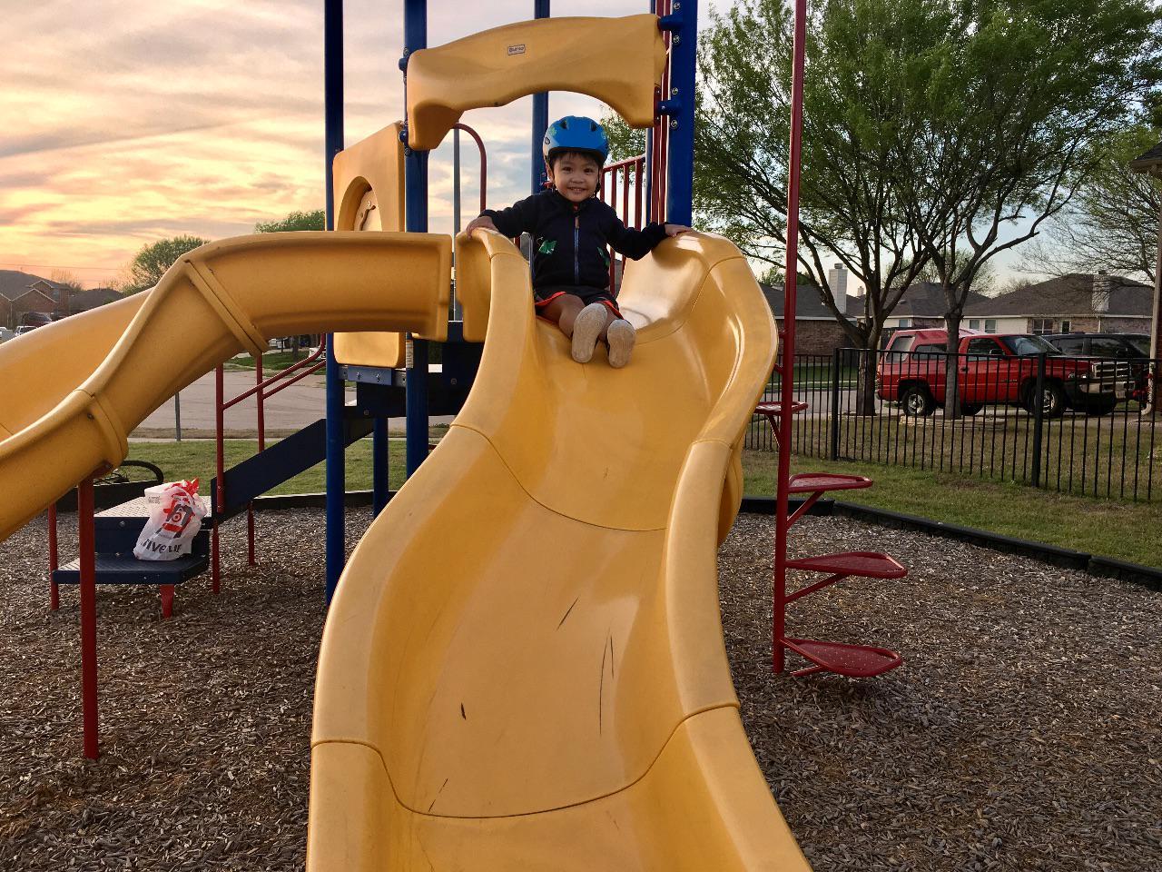 Davin at the playground