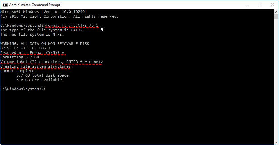 Windows CMD Screen